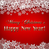 Vector Christmas and New Year Background with Stock Photo