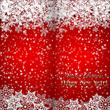 Vector Christmas and New Year Background with Royalty Free Stock Photos