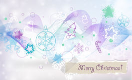 Vector Christmas and New Year card Royalty Free Stock Images