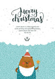 Vector Christmas and New year card Stock Photography