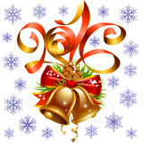 Vector Christmas and New Year 2016 decoration set Royalty Free Stock Images