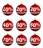 Vector christmas or new year discount labels Royalty Free Stock Photo