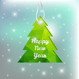 Vector Christmas and New Year 2016 greeting card Stock Images