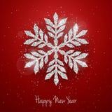 Vector Christmas New Year greeting card vector illustration