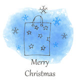 Vector Christmas and new year hand drawn icon Royalty Free Stock Photos