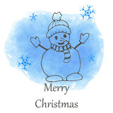 Vector Christmas and new year hand drawn icon Stock Photography