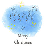 Vector Christmas and new year hand drawn icon Royalty Free Stock Photo