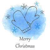 Vector Christmas and new year hand drawn icon Stock Images