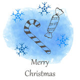 Vector Christmas and new year hand drawn icon Stock Photo