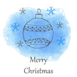 Vector Christmas and new year hand drawn icon Royalty Free Stock Image