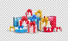 Free Vector Christmas New Year Holiday Present Box Gift Stock Image - 130222481