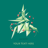Vector Christmas and New Year illustration. Stock Photo