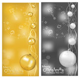 Vector Christmas, New Year's background with ball Stock Photo