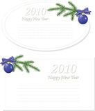 Vector Christmas & New-Year's greeting card Stock Images