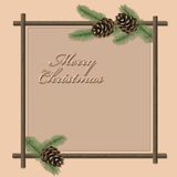 Vector Christmas & New-Year's greeting card Royalty Free Stock Image