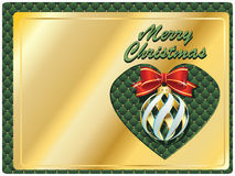 Vector Christmas & New-Year's greeting card Stock Photography