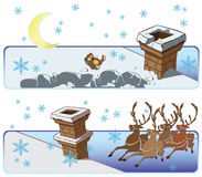 Vector Christmas & New-Year's greeting card Stock Image