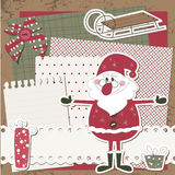 Vector Christmas and New Year scrapbook card Stock Image