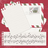 Vector Christmas and New Year scrapbook card Stock Photography