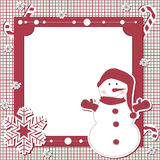 Vector Christmas and New Year scrapbook card Royalty Free Stock Image