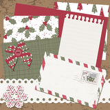 Vector Christmas and New Year scrapbook card Stock Photo