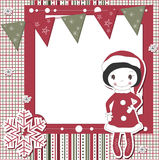 Vector Christmas and New Year scrapbook card Stock Images