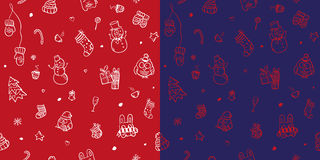 Vector christmas and new year seamless pattern Royalty Free Stock Images