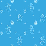 Vector christmas and new year seamless pattern Royalty Free Stock Photography