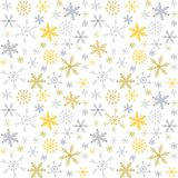 Vector Christmas and New Year seamless pattern with snowflakes. Stock Images