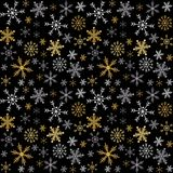 Vector Christmas and New Year seamless pattern with snowflakes. Royalty Free Stock Photos