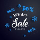 Sale banner background for New Year shopping sale. Vector Christmas or New Year winter holiday greeting card design template Royalty Free Stock Images