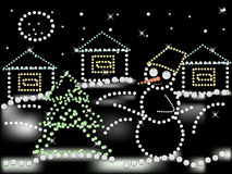 Vector christmas night Royalty Free Stock Images