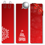 vector Christmas offer banners Royalty Free Stock Photos
