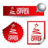 vector Christmas offer stickers Royalty Free Stock Photography