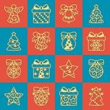 Vector Christmas Ornaments Royalty Free Stock Image