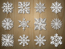 Vector christmas paper snowflake set Stock Photography