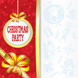 Vector. Christmas party. Royalty Free Stock Photos