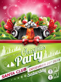 Vector Christmas Party design with holiday typographiy elements on shiny background. Vector Christmas Party design with holiday typographiy elements on shiny Stock Photo