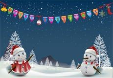 Merry Christmas! Happy Christmas companions. Vector Christmas Party design template. Vector illustration, Merry Christmas! Happy Christmas companions Stock Photography