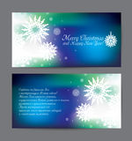 Vector christmas blue holiday flyer Stock Photo