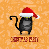 Vector. Christmas party. Royalty Free Stock Photo