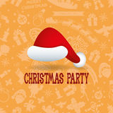 Vector. Christmas party. Stock Photography