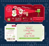 Vector Christmas Party Ticket Card Design Template Royalty Free Stock Photos