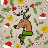 Vector Christmas pattern Stock Photos
