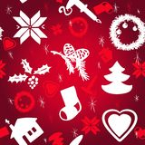 Vector Christmas pattern. Vector Seapless Christmas Pattern. Christmas brown paper Royalty Free Stock Images