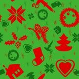 Vector Christmas pattern. Vector Seapless Christmas Pattern. Christmas brown paper Royalty Free Stock Photo