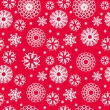 Vector christmas pattern with snowflakes, red and white color. Vector abstract christmas pattern with snowflakes, red and white color Royalty Free Stock Photo
