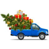 Vector Christmas Pickup. On white background Royalty Free Stock Photos