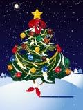 Vector christmas pine Royalty Free Stock Photography