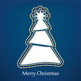 Vector christmas postcard design with denim jeans background Stock Image